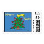Feliz árbol de navidad y sello adaptable de los co