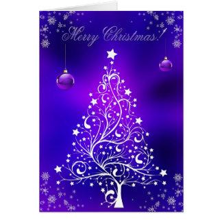 Feliz arte del invierno de los copos de nieve del tarjeta de felicitación