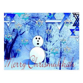 Feliz arte judío de la postal del navidad de Chris