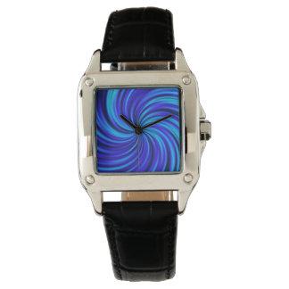 Feliz, azul (c) reloj de mano