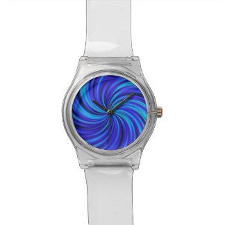 Feliz, azul (c) relojes de pulsera