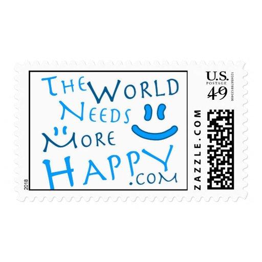 Feliz-azul Sellos