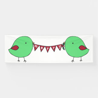 Feliz bandera de encargo de los pequeños polluelos lona