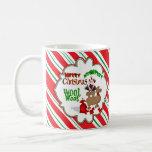 Feliz bastón de caramelo del navidad del camello d tazas