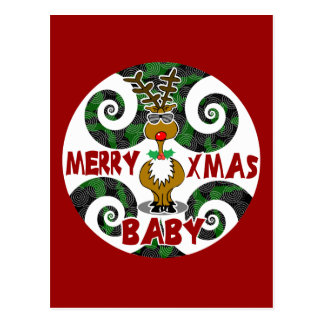 Feliz bebé de Navidad Tarjeta Postal