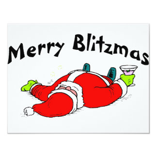 Feliz Blitzmas Santa Anuncio Personalizado
