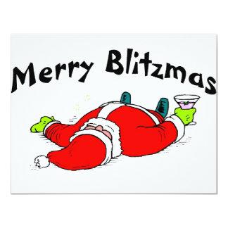 """Feliz Blitzmas Santa Invitación 4.25"""" X 5.5"""""""
