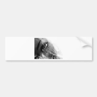 Feliz brillante etiqueta de parachoque