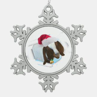 Feliz cabra del navidad del país con el gorra y