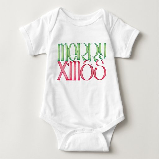 Feliz camiseta del niño de X'mas Mameluco De Bebé
