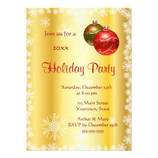Feliz celebración de días festivos en fondo estili invitaciones personalizada