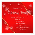Feliz celebración de días festivos en rojo invitación personalizada