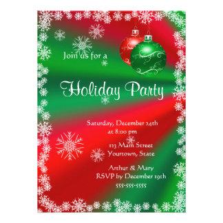 Feliz celebración de días festivos en rojo y verde anuncio