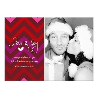Feliz Chevron tarjeta de la foto del día de fiesta