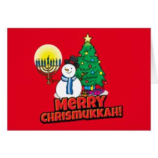 Feliz Chrismukkah judío y navidad Tarjeta De Felicitación