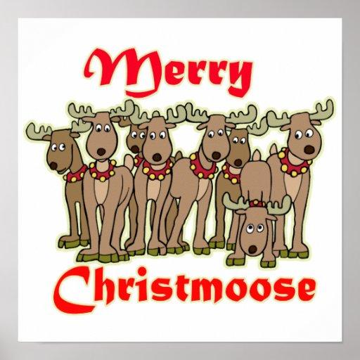 Feliz Christmoose Posters