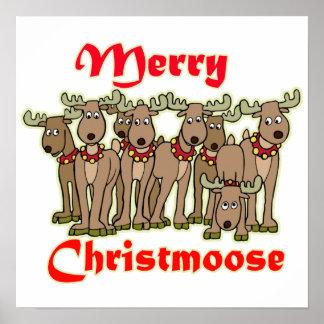 Feliz Christmoose Póster