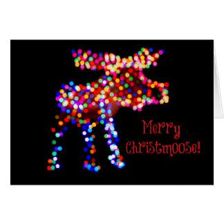 ¡Feliz Christmoose! Tarjeta del día de fiesta