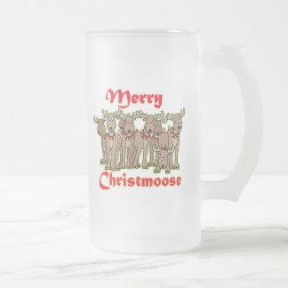 Feliz Christmoose Tazas De Café