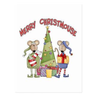 Feliz Christmouse Tarjetas Postales