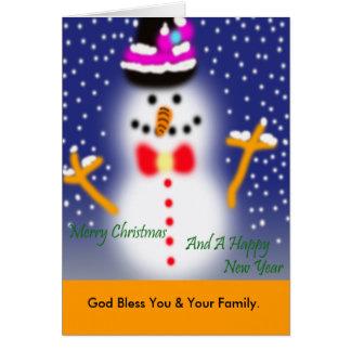 Feliz Chritmas, dios bendice le y a su familia Tarjeton