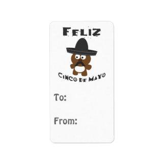Feliz Cinco De Mayo Bear Label