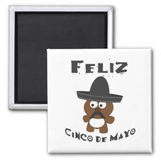 Feliz Cinco de Mayo - Bear Magnet