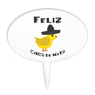 Feliz Cinco de Mayo - Chick Cake Topper