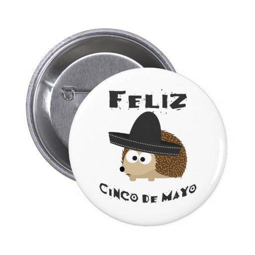 Feliz Cinco de Mayo - Hedgehog Buttons