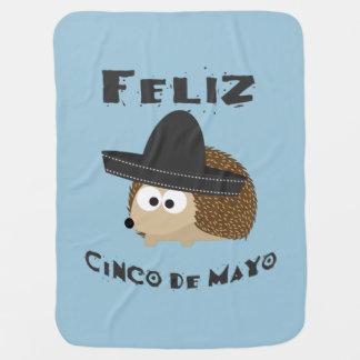 Feliz Cinco De Mayo Hedgehog Receiving Blanket
