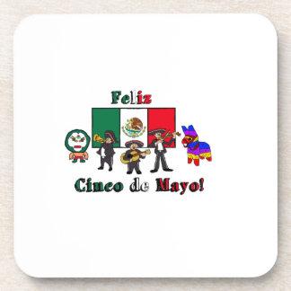 Feliz Cinco de Mayo! Holiday Cartoon Illustration Coaster