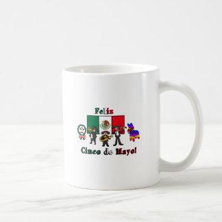 Feliz Cinco de Mayo! Holiday Cartoon Illustration Coffee Mug