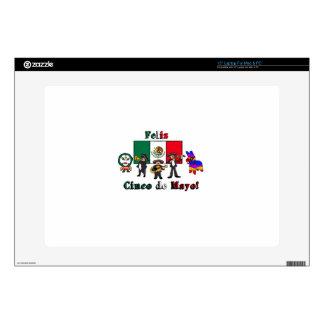 Feliz Cinco de Mayo! Holiday Cartoon Illustration Laptop Decal