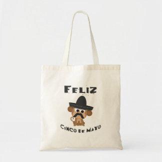 Feliz cinco de Mayo - Monkey Canvas Bags