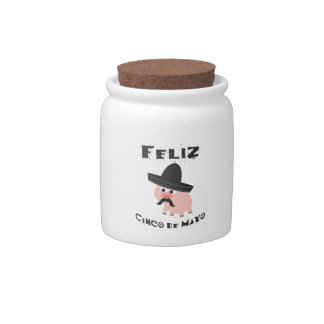 Feliz Cinco De Mayo - Pig Candy Jar