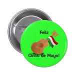 ¡Feliz Cinco de Mayo! Pin Redondo 5 Cm