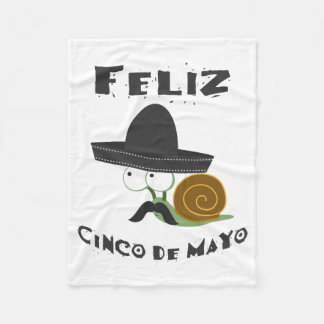 Feliz Cinco De Mayo Snail Fleece Blanket