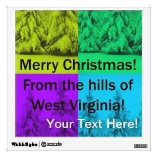 Feliz collage del árbol de navidad de Virginia