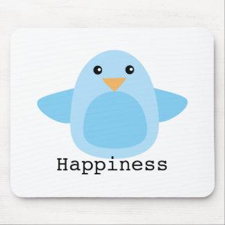 Feliz como Bluebird Tapetes De Ratón