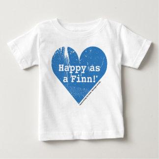 Feliz como camiseta del niño del Finn Playera