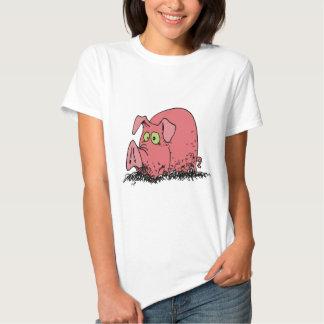 Feliz como cerdo en fango playera