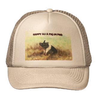 """""""Feliz como cerdo en gorra del camionero de los ho"""