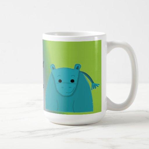 Feliz como hipopótamo taza clásica
