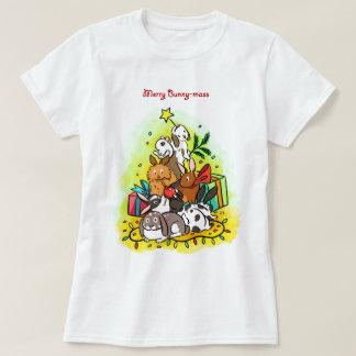 Feliz Conejito-masa Playera