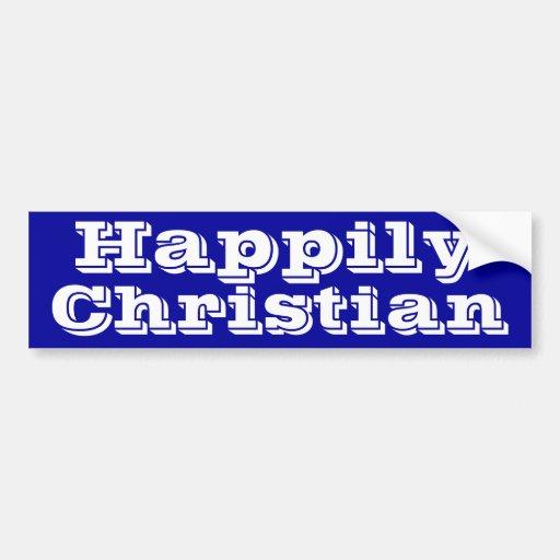 Feliz cristiano pegatina para auto