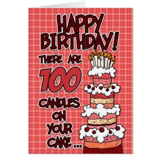 Feliz cumpleaños - 100 años tarjeta de felicitación