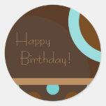 ¡Feliz cumpleaños! 103 retros Etiqueta Redonda