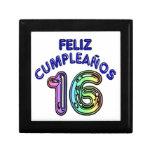 Feliz Cumpleaños 16 Cajas De Recuerdo