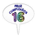 Feliz Cumpleaños 16 Figura De Tarta