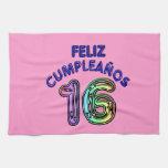Feliz Cumpleaños 16 Toallas